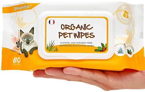 Dhohoo Pflegetücher für Hunde und Katzen - 80...