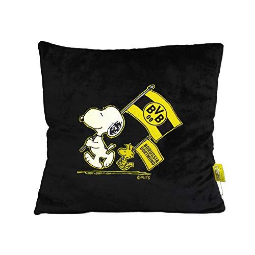 Borussia Dortmund BVB-Snoopy Kuschelkissen schwarz...