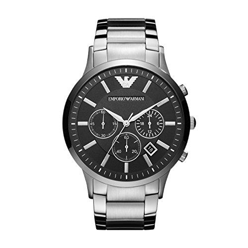 Emporio Armani Herren Chronograph Quarz Uhr mit...