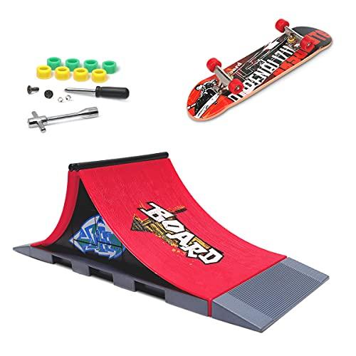 MOMSIV Mini Finger Skateboard und Ramp Zubehör...