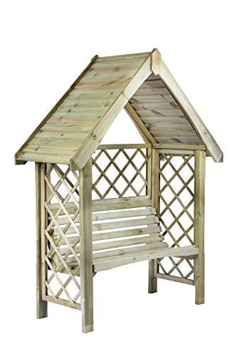 G&C Oxford – Gartenpergola aus Holz mit Bank...