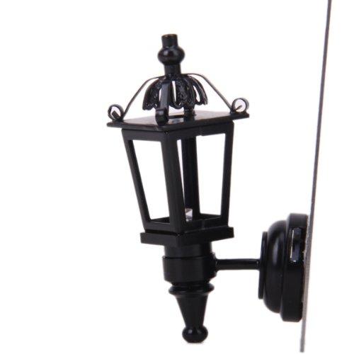 MagiDeal 1:12 Puppenhaus Miniatur-LED-Wandleuchte...