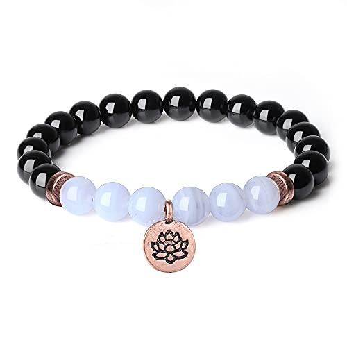 coai Geschenkideen Yoga Armband aus Schwarzem...
