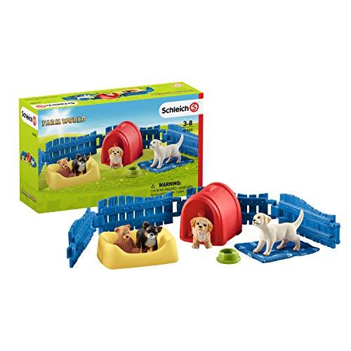 Schleich 42480 Farm World Spielset - Welpenstube,...