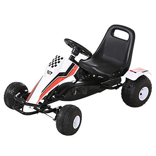 HOMCOM Go Kart Kinderfahrzeug Tretauto mit Pedal...