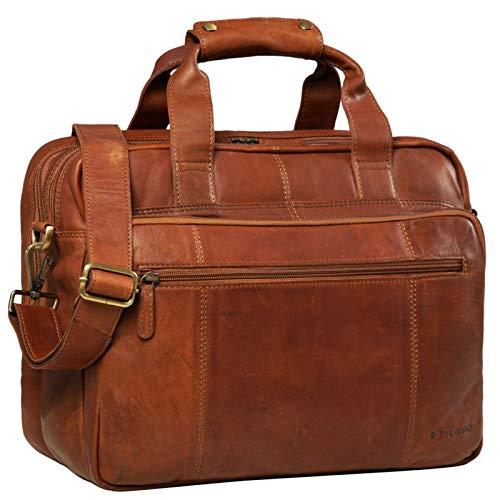 STILORD 'Experience' Vintage Lehrertasche Leder...