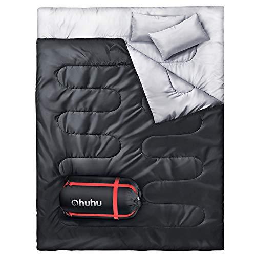 Doppelschlafsack, Ohuhu Schlafsack 220 x 150cm...