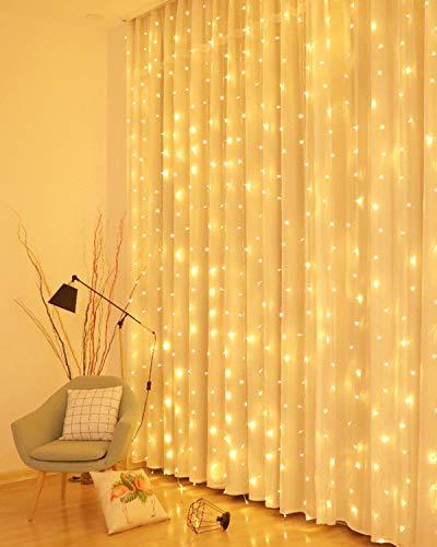 LED Lichtervorhang, 3 * 3M 300er Lichterketten...
