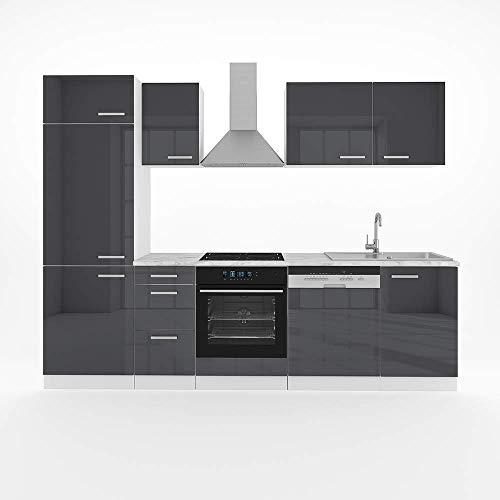 Vicco Küche Optima 270 cm Küchenzeile...