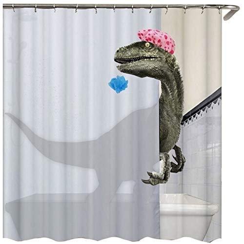 Binchil Schöee Bade Shower Curtains Dinosaurier...
