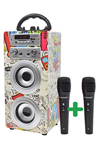 DYNASONIC Bluetooth Lautsprecher für Karaoke...