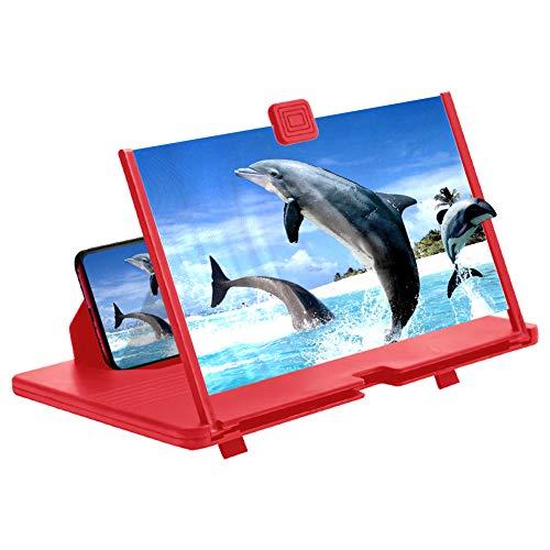 AnCoSoo 12' Bildschirmlupe - 3D Hd-Handy-Lupe...