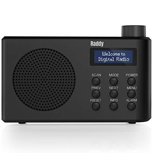 Raddy RD3 Tragbares DAB FM Radio Klein mit...
