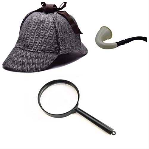 thematys Sherlock Holmes Deerstalker Alter Mann...