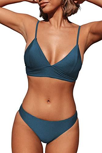 CUPSHE Damen Bikini Set Triangel Breites...