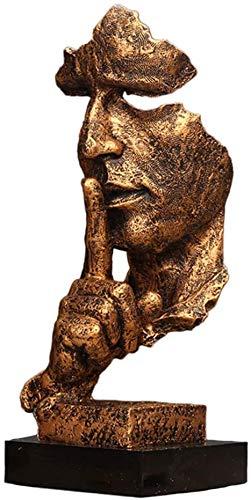 WQQLQX Statue Stille ist goldene skulptur kreative...