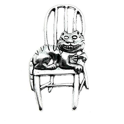WANM Schmuckzubehör Charms Katze auf dem Stuhl...