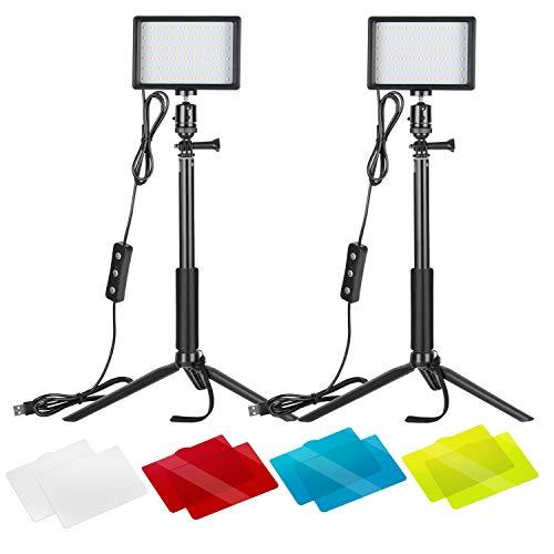Neewer 2er-Pack dimmbares 5600K USB-LED-Videolicht...