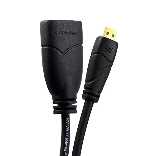 Cablesson ® Ivuna Micro HDMI 0.5m Verlängerung -...