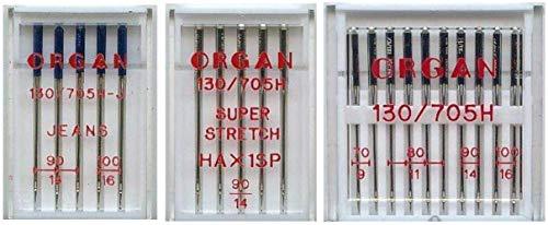 Organ Nähmaschinen-Nadel-Set für W6 Wertarbeit...
