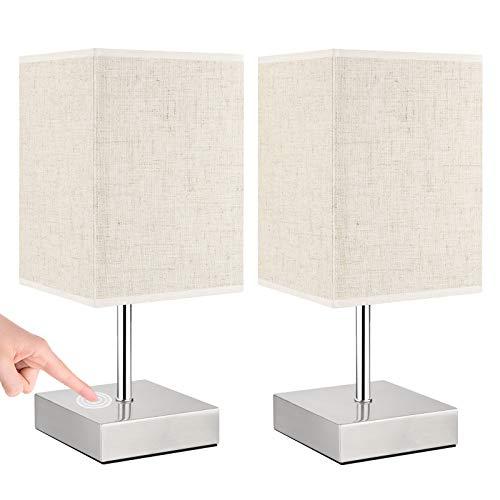 Lovebay 2 Stück Nachttischlampe touch dimmbar,...