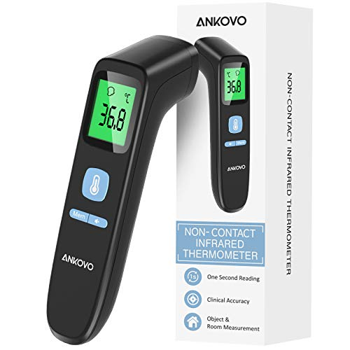 ANKOVO Fieberthermometer Kontaktlos, Infrarot...