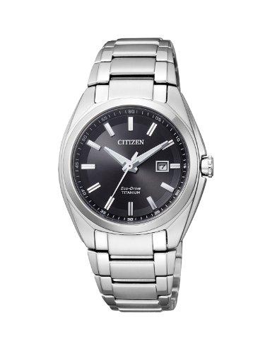 Citizen Damen Analog Quarz Uhr mit Titan Armband...