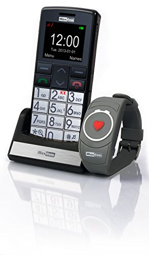 Maxcom MM 715 Großtasten Handy mit Notrufarmband...