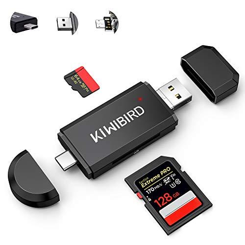 KiWiBiRD USB C SD Kartenleser, Micro SD Karte auf...