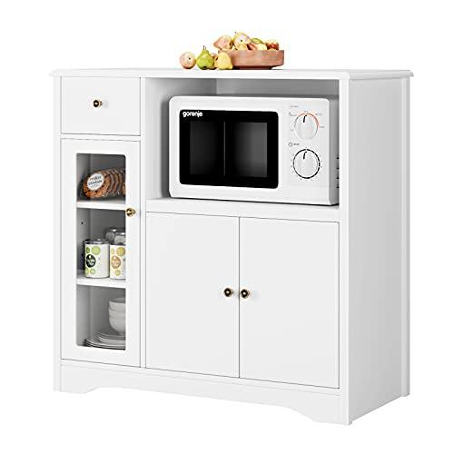 Kommode Sideboard weiß Küchenschrank mit...