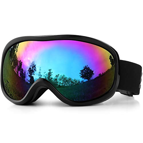 SPOSUNE Skibrille Damen Herren Snowboardbrille OTG...
