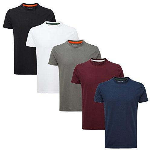 Charles Wilson 5er Packung Einfarbige T-Shirts mit...