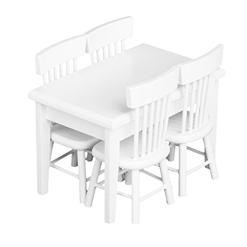 5 Stück Esstisch Stuhl Modell Set Puppenhaus...