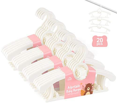 Anstore 20 Stück Mitwachsende Kinderkleiderbügel...