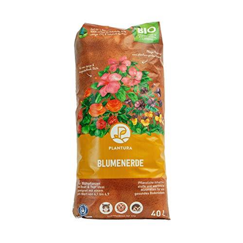 Plantura Bio Blumenerde, 40 L, torffrei &...
