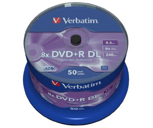 Verbatim DVD+R Double Layer Matt Silver 8.5GB I...