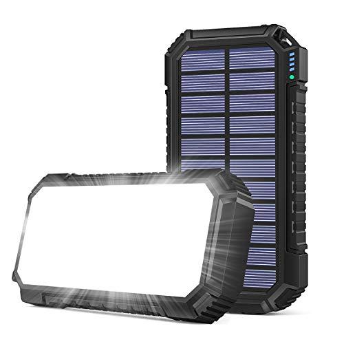 Riapow Solar Ladegerät 26800mAh, Schnellladung...