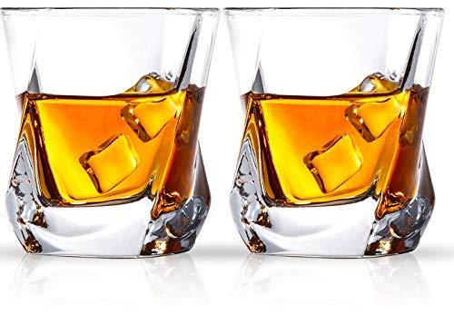 Cooko Whisky Gläser, Luxus Kristall Gläser Set,...