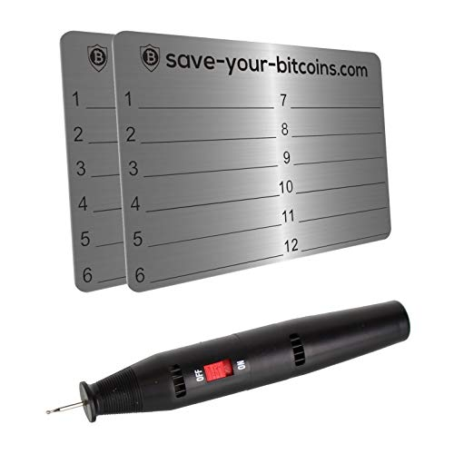 Save-Your-Bitcoins Hardware Wallet Seed Phrase -...