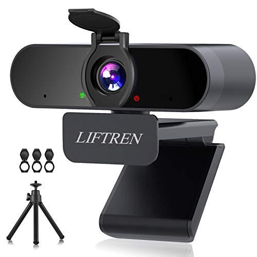 LIFTREN 1080P HD Webcam Mit Mikrofon für PC, USB...