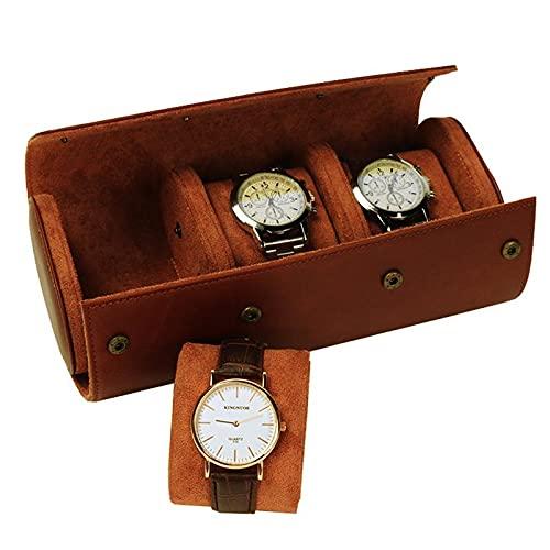 Chytaii 3 Slots Uhrenbox Retro Pu Leder Uhrenrolle...