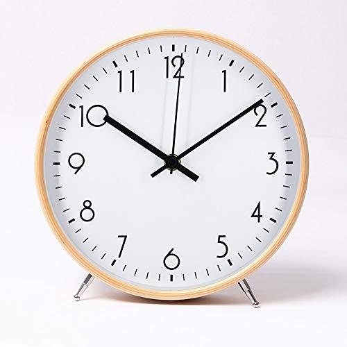ALEENFOON 8.6 Zoll Holz Uhr Modern Leise Wanduhren...