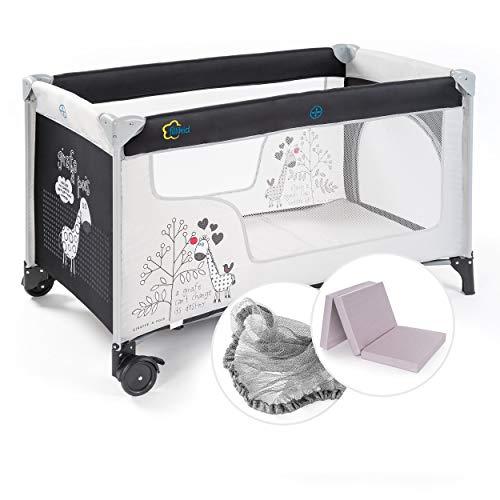 Fillikid Baby Reisebett Set mit Matratze und...
