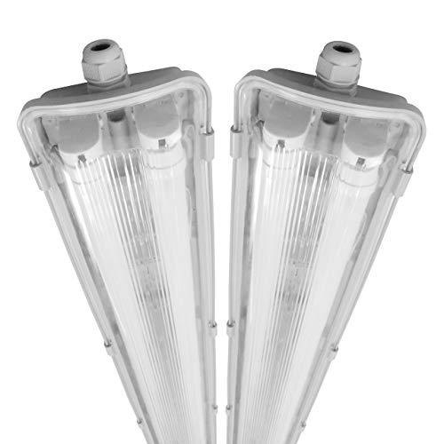 proventa® LED-Feuchtraumleuchte 120 cm, Sparset...