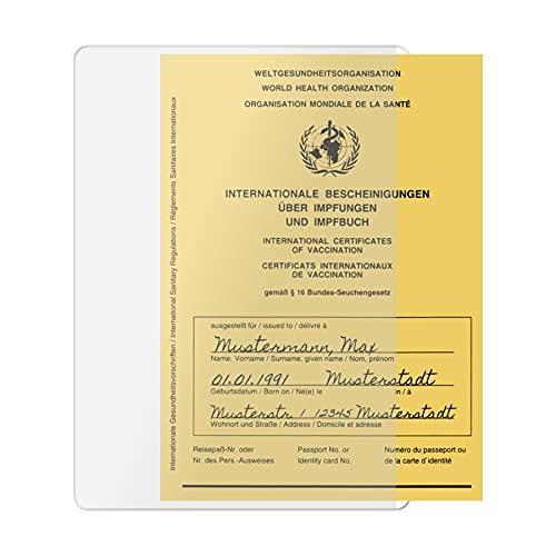 Hülle für Impfpass Impfausweis - 106x155 mm -...