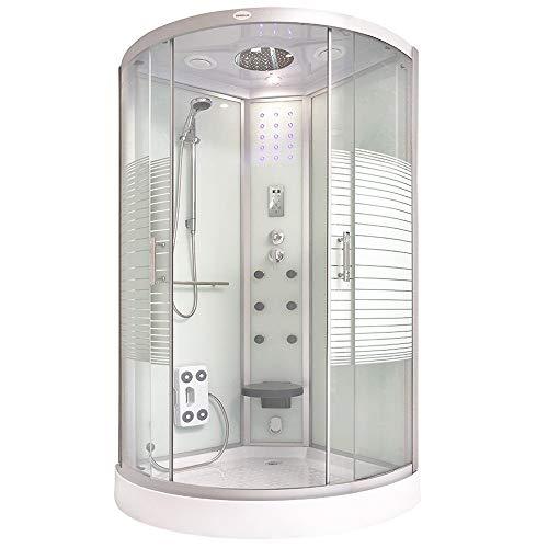 Home Deluxe - Dampfdusche 100x100 - Komplettdusche...