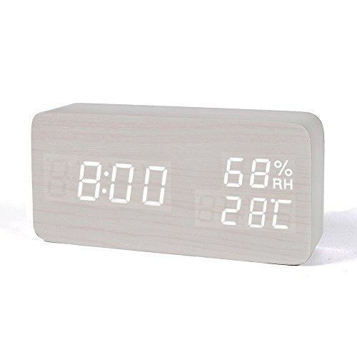 FiBiSonic Wecker Digitale Tischuhr LED Datum...