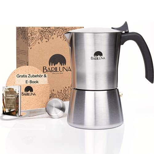 BARILUNA® Premium Espressokocher aus Edelstahl,...