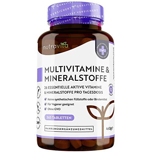 Multivitamin & Mineralstoffe - 365 hochdosierte...