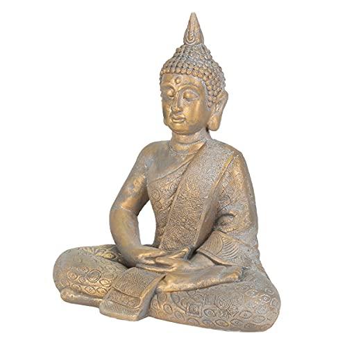 ECD Germany Buddha Figur sitzend, 48cm hoch, aus...